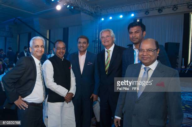 Sunil Gulati FIFA Council member Vijay Goel Sports Minister India Praful Patel President AIFF along with other dignitaries during FIFA U17 World Cup...