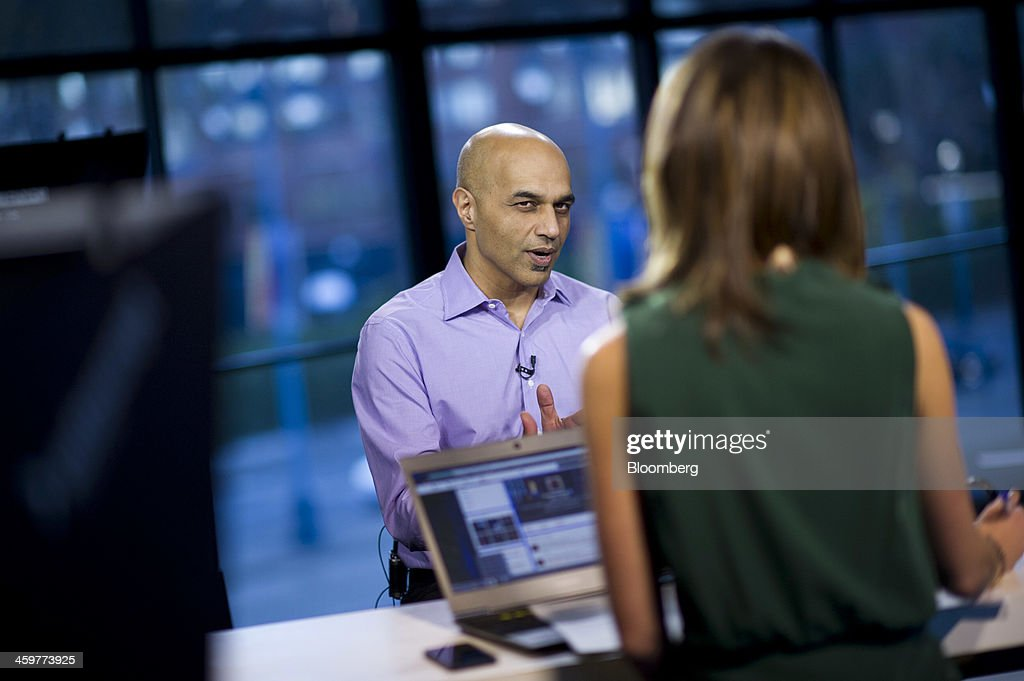 Sunil Paul, chief executive officer of SideCar Technologies Inc., speaks during a Bloomberg West Television interview in San Francisco, California, U.S., on Thursday, Dec. 26, 2013. SideCar offers taxi services similar to that of Uber Technology Inc. and Lyft Inc. Photographer: David Paul Morris/Bloomberg via Getty Images