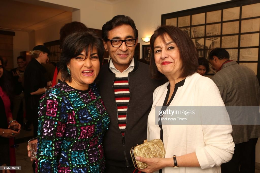 Annual Dinner Party Part - 46: Sunit Tandon (C) And Bubbles Sabharwal (R) During An Annual Dinner Party