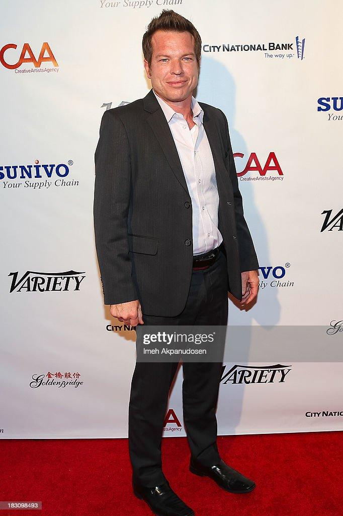 Sunivo executive Cory Hudson attends Sunivo's 1st Annual CHINA NOW Summit at the Hyatt Regency Century Plaza on October 3, 2013 in Century City, California.