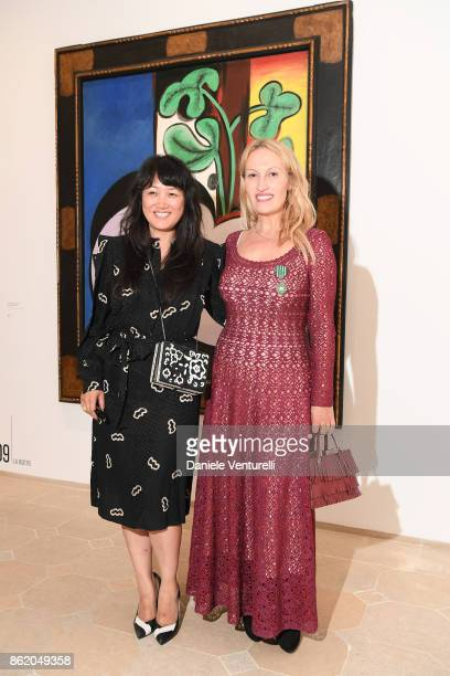 Sunjoo Moon attends a cocktail in honour of Diana Widmaier Picasso and Alexander SC Rower awarded with the Chevalier and Officier de Ordre des Arts...