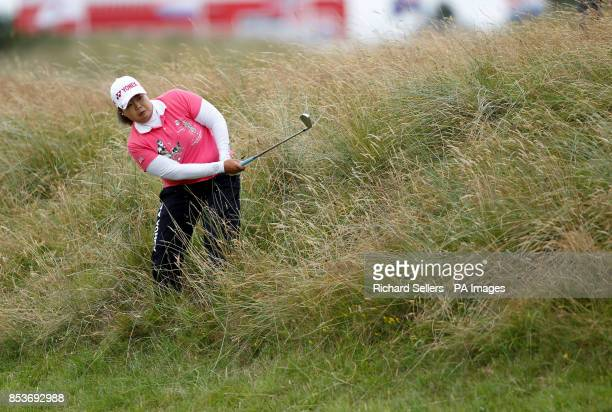 SunJu Ahn of Korea in the rough during day four of the Ricoh Women's British Open at Royal Birkdale Southport