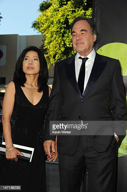 Sunjung Jung and director Oliver Stone arrive at Premiere of Universal Pictures' 'Savages' at Westwood Village on June 25 2012 in Los Angeles...
