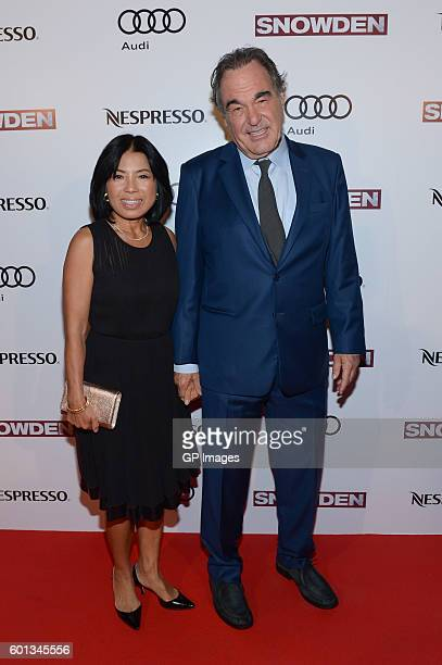 Sunjung Jung and director Oliver Stone attend the Official PreParty For Snowden CoHosted by Audi and Nespresso at Lavelle on September 9 2016 in...