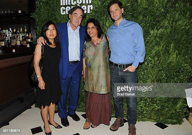Sunjung Jung Oliver Stone Mira Nair and Bennett Miller attend the Film Society Of Lincoln Centr 2014 Filmmaker In Residence Dinner at Indochine on...