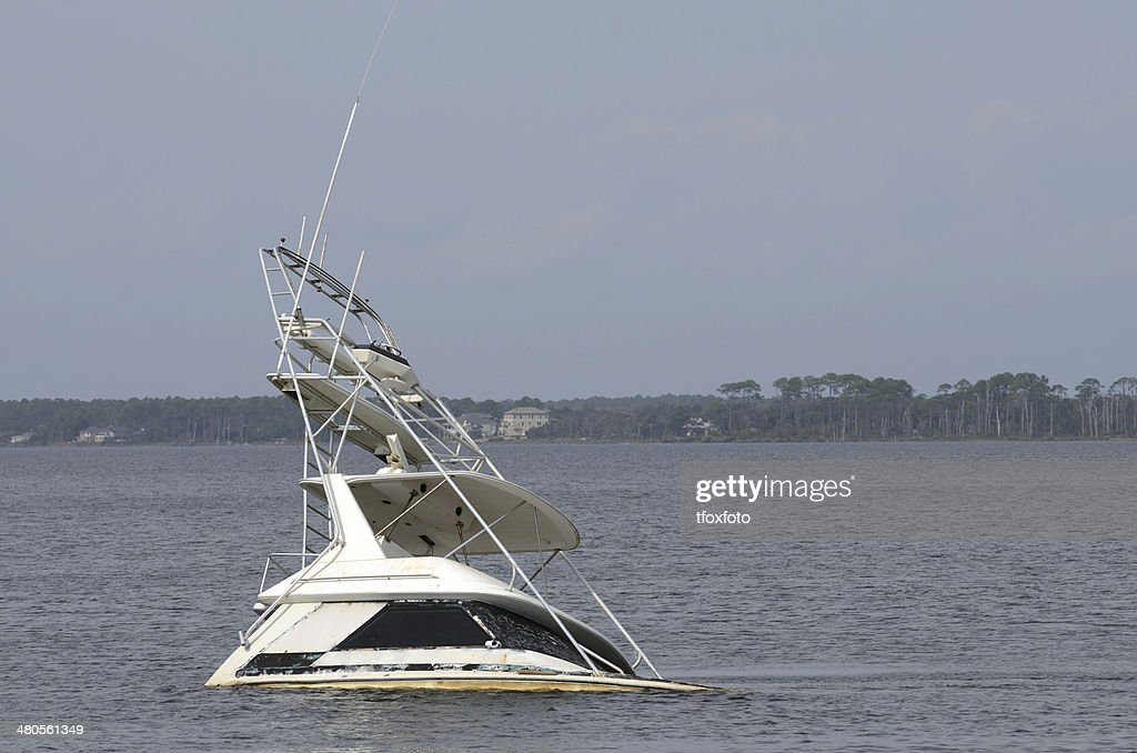 Sunk Boat : Stock Photo