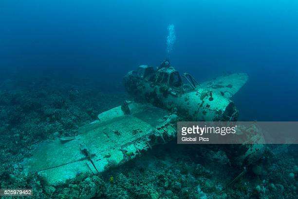 II WW Sunken Airplane Wreck -Palau