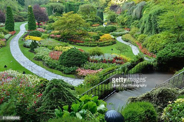Sunken Garden in Butchart Gardens