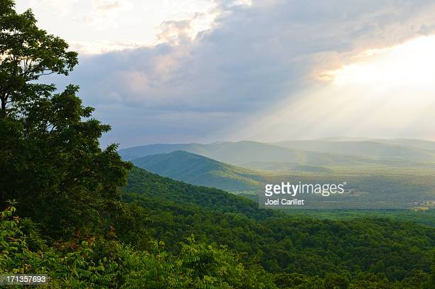Sunlight after a rain in the Shenandoah Valley of Virginia