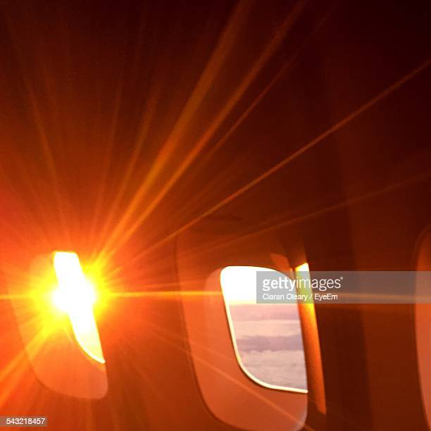 Sunlight Falling In Airplane During Sunset