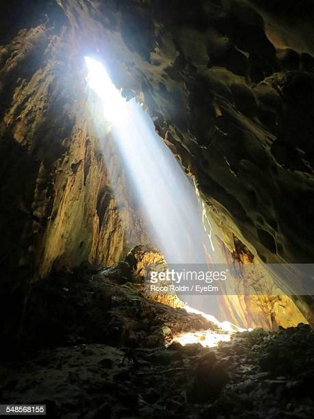Sunlight Falling In Cave