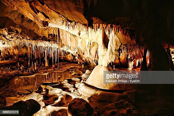 Sunlight Falling Stalactites Cave