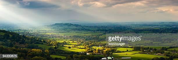 Sunlight on farms, villages, suburbs