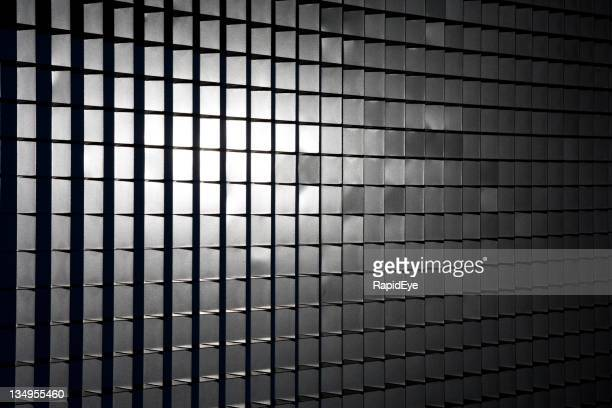 Sunlight on metal grid