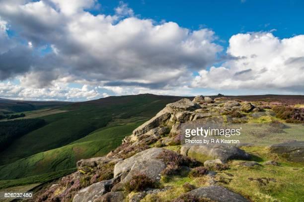Sunlight on Whinstone Lee Tor, Derwent edge, Derbyshire