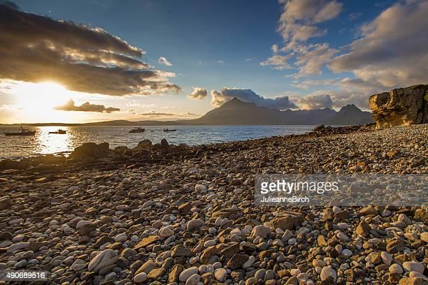Sunlight over Elgol beach