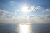 Sunlight over sea