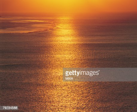 Sunlight reflected on surface of sea : Stock Photo