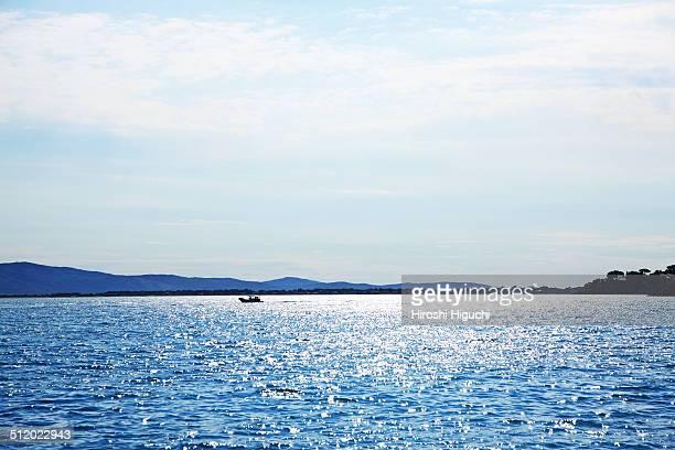 Sunlight reflection in sea