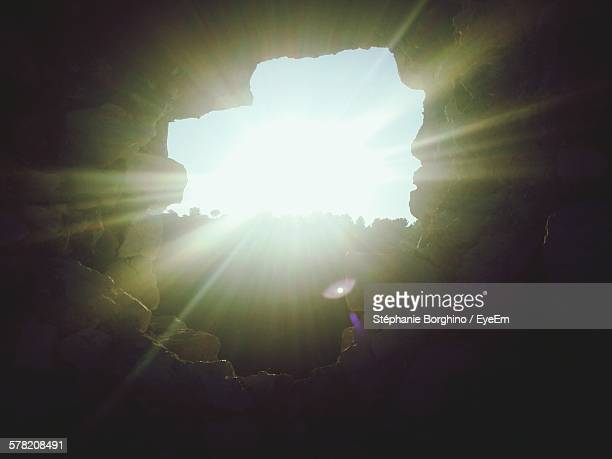 Sunlight Seen Through Rock Hole