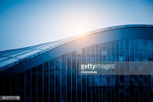 sunlight shine at modern building roof : Stock Photo