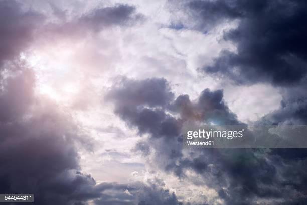 Sunlight shining through thunderclouds