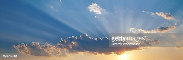 Sunlight Through Clouds in a Dramatic Sky