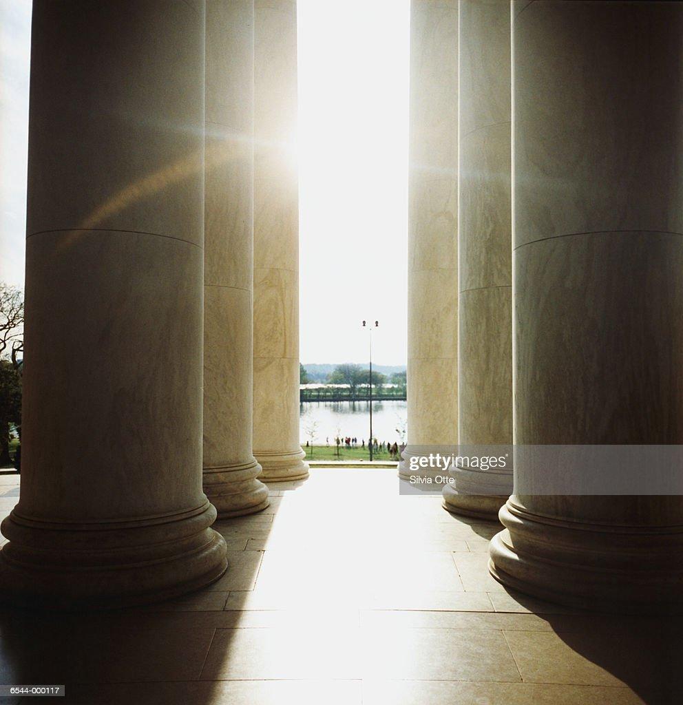 Sunlight Through Columns : Stock Photo