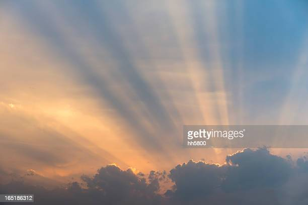 Sunlight,Rays of Light Behind Clouds,