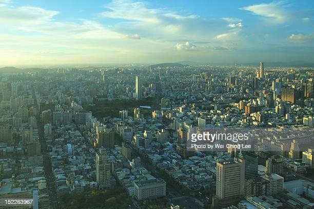 Sunlit city