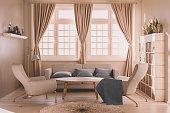 Render image of a modern living room