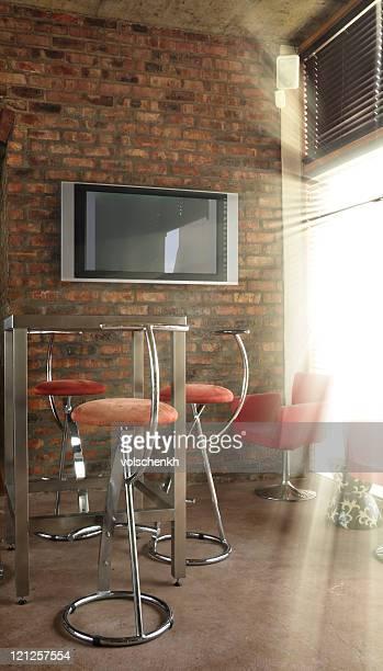 Sunlit television room