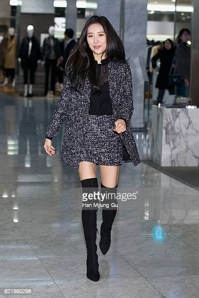 Sunmi of girl group Wonder Girls attends the photo call for 'The Kooples' at Hyundai Department Store on November 9 2016 in Seoul South Korea