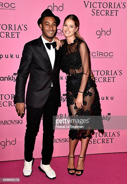 Sunnery James and Doutzen Kroes attend the after party for the annual Victoria's Secret fashion show at Earls Court on December 2 2014 in London...