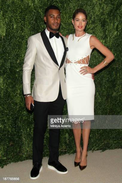 Sunnery James and model Doutzen Kroes attend CFDA and Vogue 2013 Fashion Fund Finalists Celebration at Spring Studios on November 11 2013 in New York...
