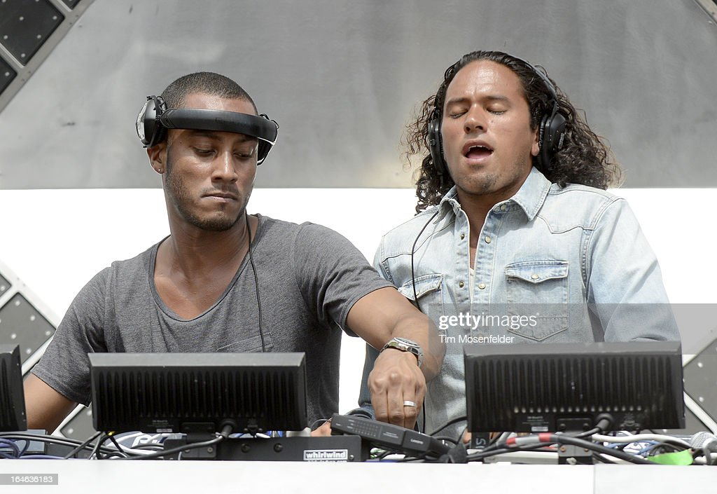 Sunnery James (L) and Ryan Marciano of Sunnery James & Ryan Marciano perform at the Ultra Music Festival on March 24, 2013 in Miami, Florida.