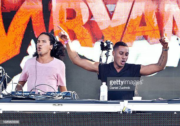 Sunnery James and Ryan Marciano perform during the 2013 Electric Daisy Carnival New York at Citi Field on May 17 2013 in New York City