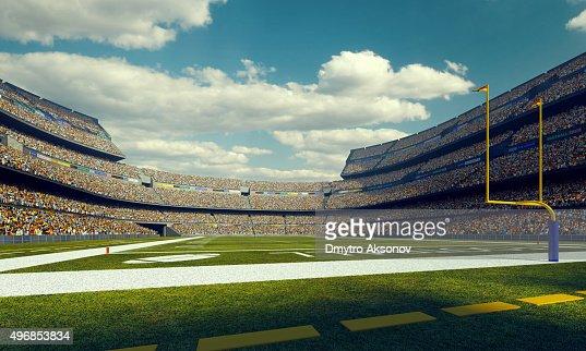 Sunny american football stadium