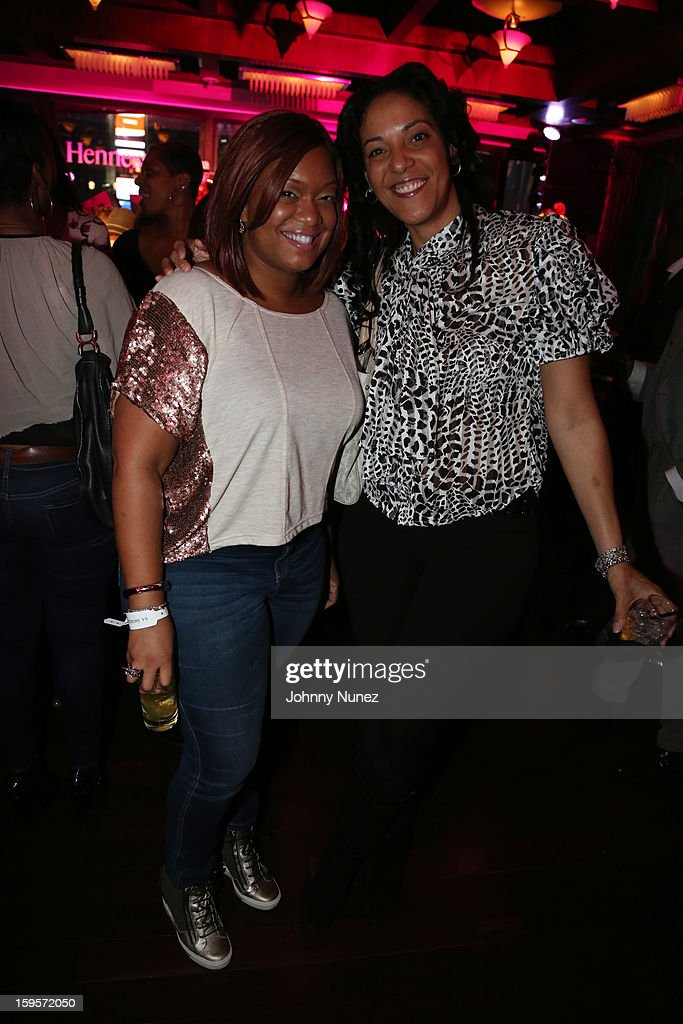 Sunny Anderson and Steph Lova attend Hennessy vs Introduces Nas As Newest Partner at R Lounge at the Renaissance New York Times Square Hotel on January 15, 2013 in New York City.