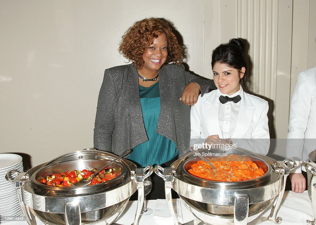 Sunny Anderson (L) attends Our Table Is Yours - A Thanksgiving Dinner Benefit at Cipriani Wall Street on November 21, 2012 in New York City.