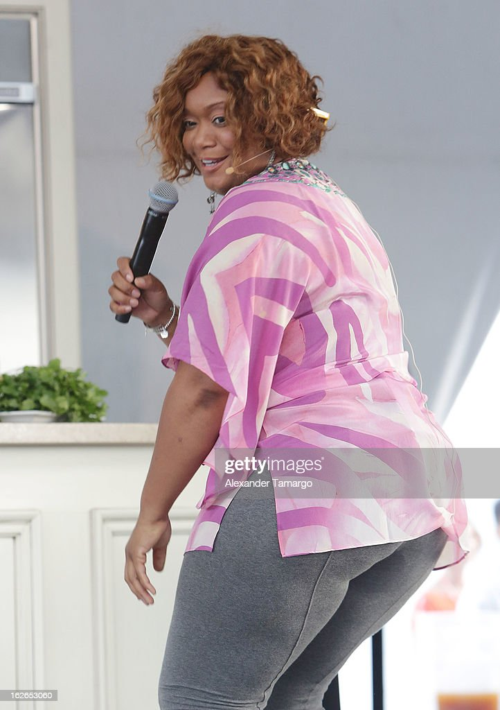 Sunny Anderson attends South Beach Wine and Food Festival 2013 Grand Tasting Village on February 24, 2013 in Miami Beach, Florida.