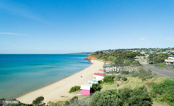 Sunny beach from above, Melbourne, Australia