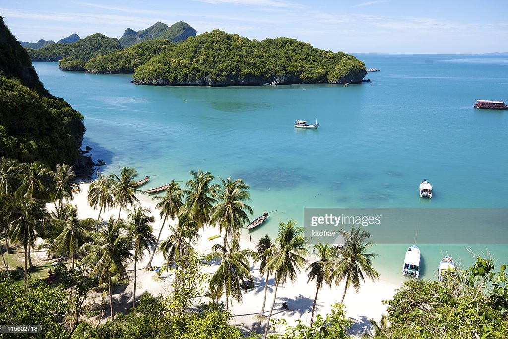 Sunny beach on AngThong National Park in Koh Samui, Thailand : Stock Photo