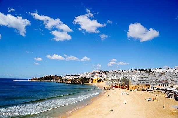 Sunny beach vacation with blue sky