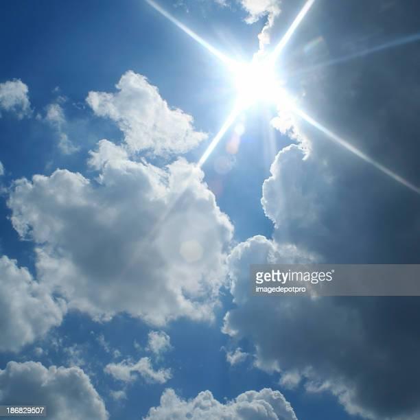 sunny bewölkten Himmel