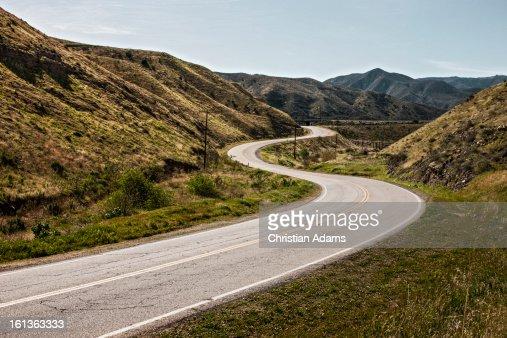 Sunny curvy road