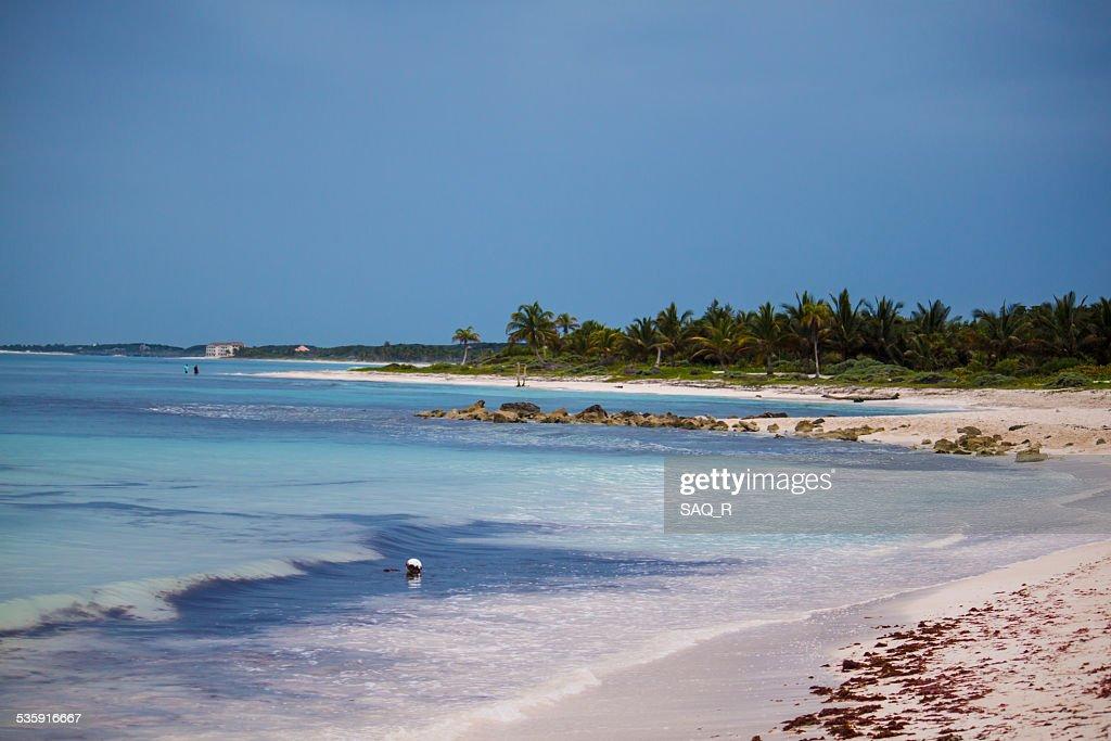 Día soleado en la playa : Foto de stock