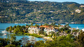Panoramic view of Montego Bay, Jamaica on a stunning spring day.