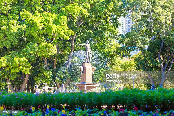 Sunny day in the park, Archibald fountain in Hyde park