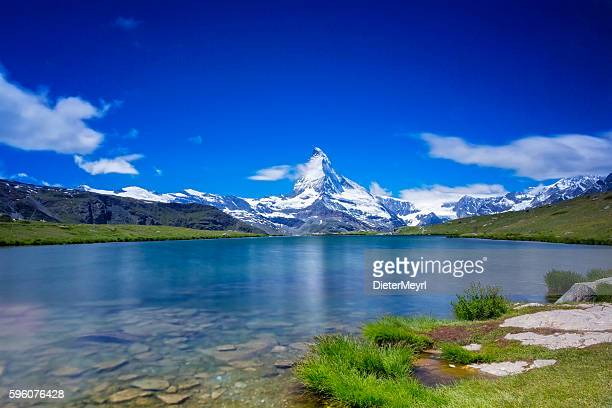 Sunny day with view to Matterhorn  - long time exporsure